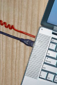 Fiber-to-the-home broadband travels through cables.