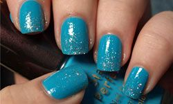 Sparkly nails are obviously nothing new, but when you add a little glitter, well, you've got something else all together.
