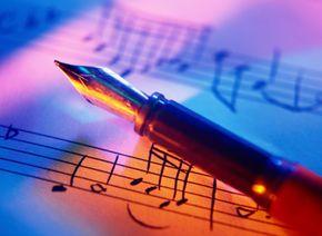 Film composers write an original music score for a movie.