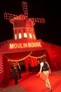 """For """"Moulin Rouge,"""" set designers created 19th century France, also recreated for the movie's premiere."""