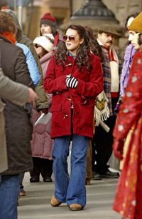 """Location scouts chose to shoot """"Chapter 27"""" in front of New York's Dakota, the site where John Lennon was shot. The film stars Lindsay Lohan, shown here, and Jared Leto as Mark David Chapman."""