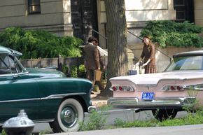 Set designers found 1950s era vehicles for the filming of the latest Indiana Jones movie.