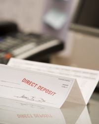 Direct deposit is a great way to streamline your cash flow.
