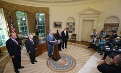U.S. President George W. Bush delivers a brief statement June 30, 2008, after signing the Supplemental Appropriations Act, 2008.
