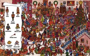 The Nutcracker opens with a wonderful Christmas party. Can you find the children as they celebrate?