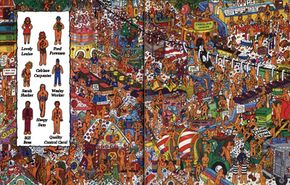 Find the factory workers in this Christmas game.