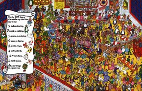 Find the dancing ladies and lots more in this Christmas game.