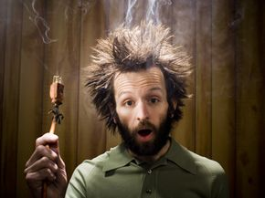 If you stick your finger in an electrical socket, you could wind up looking like this guy.