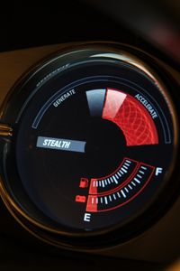 The 2010 Fisker Karma efficiency gauge