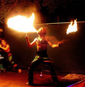 A fire breather