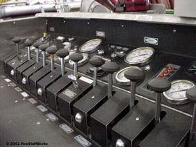 The pump panel is used to control which hoses have water flowing through them at any given time.