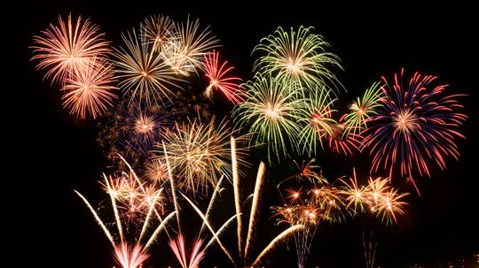 How Do Fireworks Explode in Specific Shapes?
