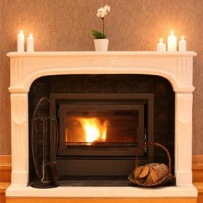 Fireplace close-up.