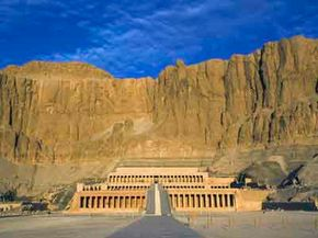 Queen Hatshepsut's temple complex in Egypt. See more of ancient Egypt in these Egyptian pyramid pictures.