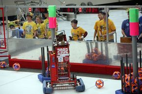 Robots take to the playing field. See more robot pictures.