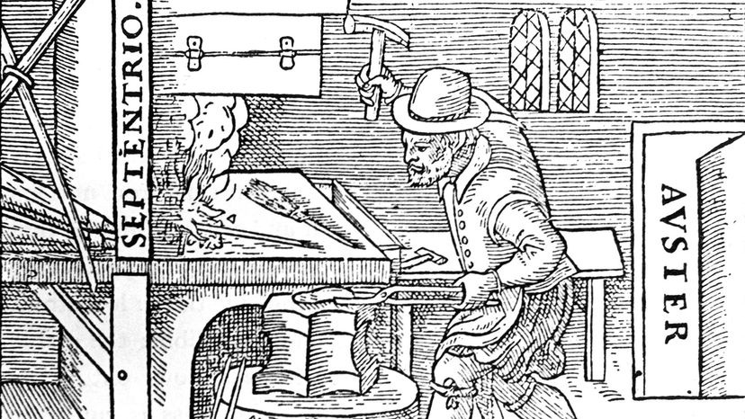 William Gilbert forges a magnet