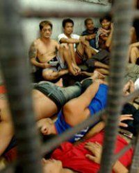 Inmates in a Manila, Philippines, jail in 2006. The country was criticized by the U.S. for subjecting its inmates to torture, including beatings.