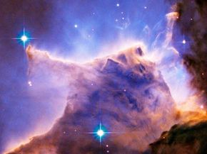 A picture of the Eagle Nebula, captured by Hubble's main camera, the WFPC2