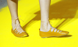 Sonia Rykiel yellow flats look charming and cheery for summer.
