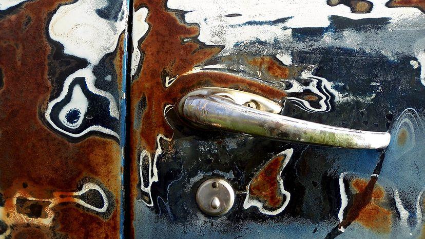 Rust on car door