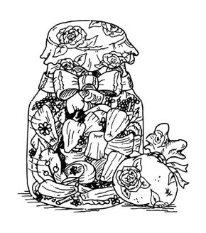 Loosen the lid on the jar of potpourri to let the scent fill a room.