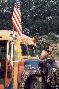 A hippie during the flower power heyday.