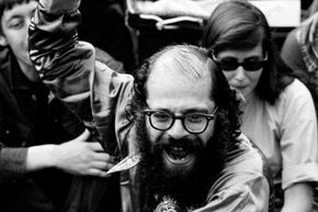 Poet Allen Ginsberg popularized the flower power concept.