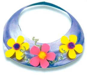 You'll be a vision in a Flower Power sun visor.