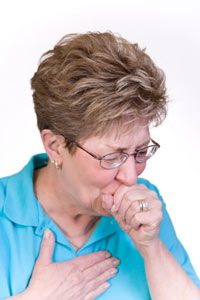 Coughing can be a symptom of pulmonary edema.