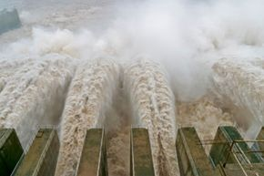 The Three Gorges Dam in China is the biggest hydroelectric dam in the world, and it was constructed with fluid concrete.