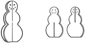 Create a snowman that will never melt using foam core sculptures.