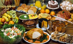 With a spread like this, who'd want to go without food at all?