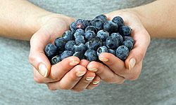A handful of blueberries is one of the healthiest snacks you can have.