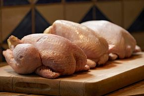 Thawing meat on the kitchen counter is not a good idea because bacteria can build up quickly.