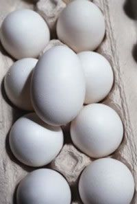 Handle eggs with care, since they can carry salmonella.
