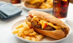If you're not in the mood for a hot dog, try a Philly cheesesteak -- that's how the sandwich got its start, anyway.
