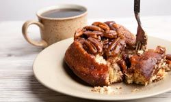 Sticky buns and coffee offer a nice diner treat before you hit the road in the morning.