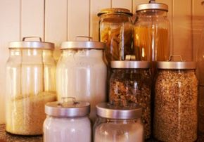 Jars make good food storage containers.