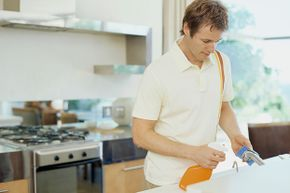 Don't wipe the kitchen down with a germy sponge. Make sure it's clean.
