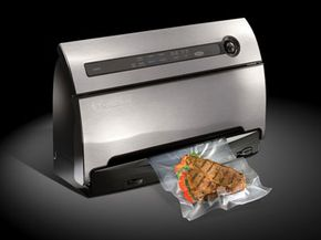 This FoodSaver unit helps food stay fresher longer.