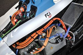 Formula E cars will be powered entirely by electricity stored in lithium ion batteries. No hybrids, no flywheels or kinetic energy recovery system (KERS) either.