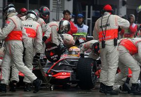 A Formula One pit crew has only seven to 10 seconds to complete a pit stop.