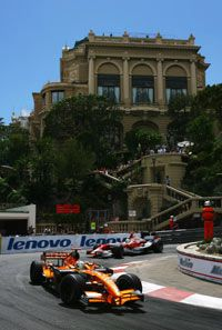 A shot from the Monte Carlo Grand Prix