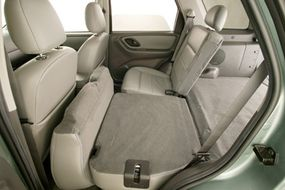 The rear seats can be folded down to allow up to 65.5 cubic feet of cargo space.