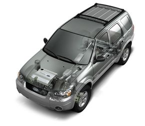 The Escape Hybrid incorporates full hybrid technology within the standard Escape SUV design.