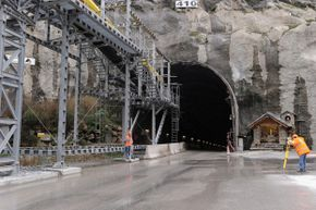 The Gotthard Base Tunnel, which runs through the Swiss Alps, is the longest such tunnel in the world.