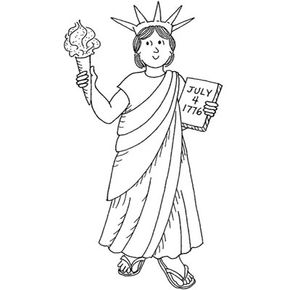 Try this Fourth of July activity and create a Lady Liberty costume to show your patriotic spirit.
