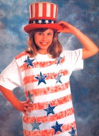 Patriotic T-Shirt and Uncle Sam's Hat