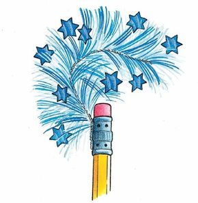 Patriotic pencils are fun to make a write with.