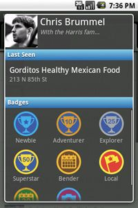 You can earn Foursquare badges by checking in to different kinds of locations.